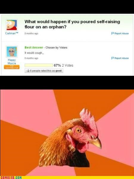 anti joke chicken flour orphan the internets wtf - 5105892608