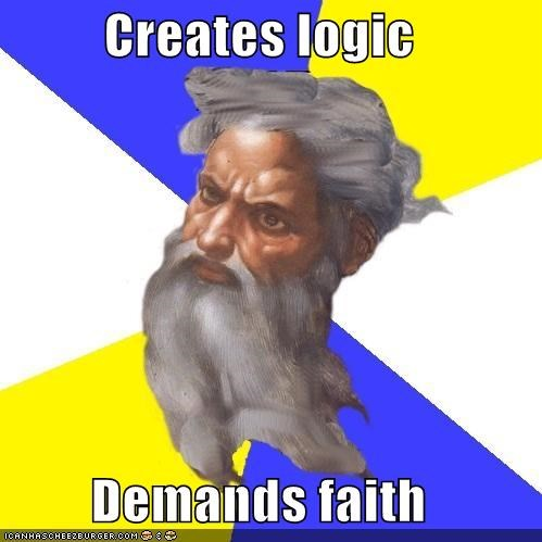 belief faith logic Troll God - 5106190848