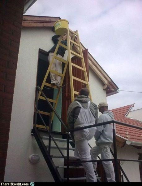 holding it up ladder Professional At Work - 5106292736
