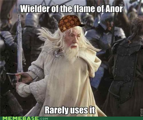 anor flame gandalf Lord of the Rings Memes movies sword - 5106302208