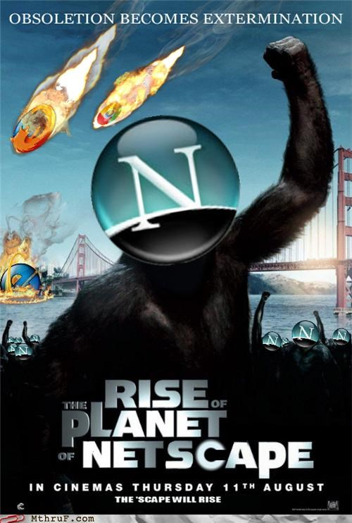 browsers movies netscape Planet of the Apes