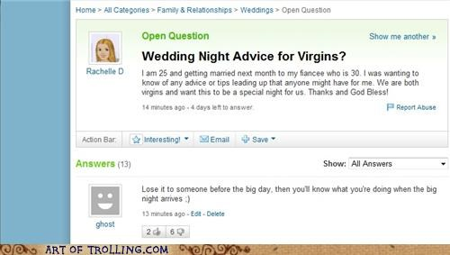 chastity cheating wedding night Yahoo Answer Fails - 5106400000