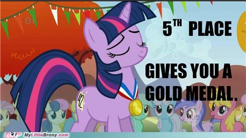 42 is the answer to everything 5th place gold medal participant medal TV twilight sparkle - 5106444800
