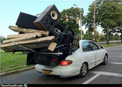 cars,moving day,stereo,wtf