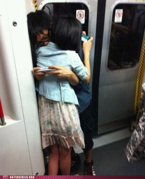 hugging,hugs,Subway,texting,We Are Dating