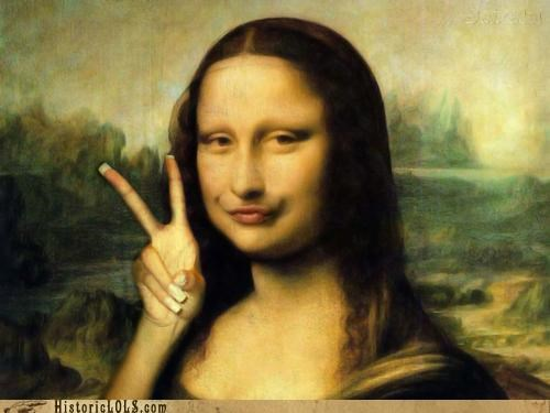 art color funny mona lisa painting shoop - 5106656512