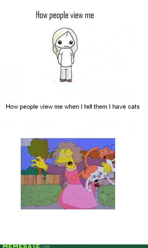 cat lady crazy How People View Me simpsons - 5106688256