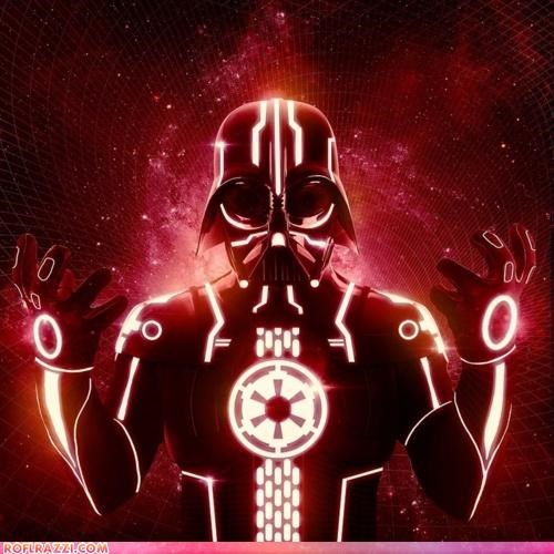 art cool darth vader sci fi star wars tron - 5106705664