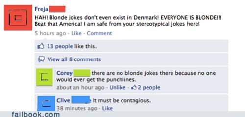 blonde jokes,denmark,oh snap
