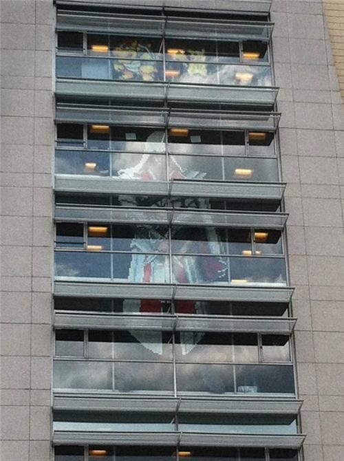 assassins creed,bnp bank,ezio,Fan Art,france,paris,post-it war,Ubisoft,ubisoft montreuil,video games