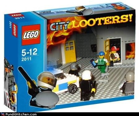 legos london riots political pictures