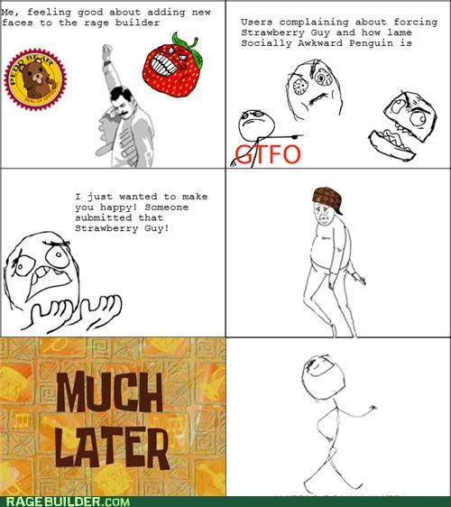 haters gonna hate,mod comics,Rage Comics,strawberry guy