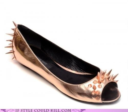 crazy shoes flats ruthie davis spikes - 5107418112
