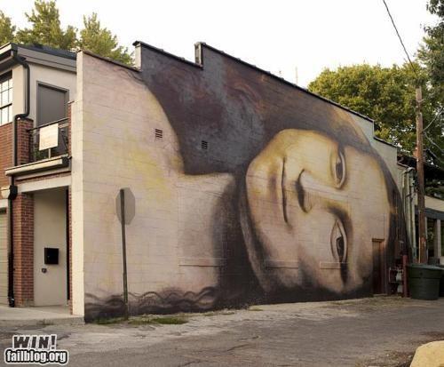 classic da vinci graffiti hacked irl mona lisa painting - 5107547648