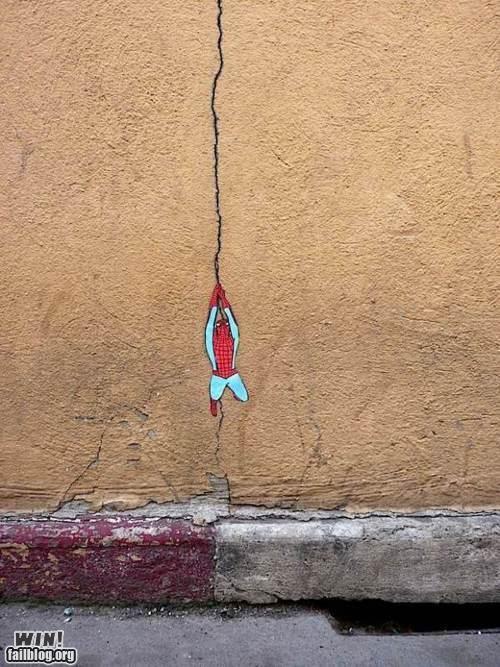 graffiti hacked irl maximum spider Spider-Man super hero web-slinger - 5107550208