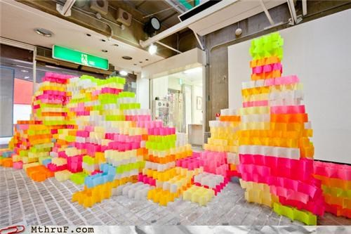 art post it post its sculpture