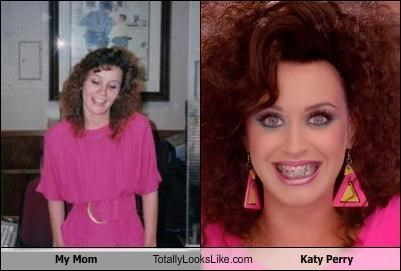 80s style bad hair feathered hair katy perry mom other pink pink clothing pink outfit