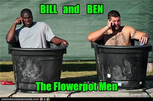 athletes,bathing,flowerpot,silly,sports,Up Next in Sports,wat