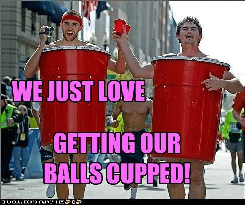 WE JUST LOVE GETTING OUR BALLS CUPPED!