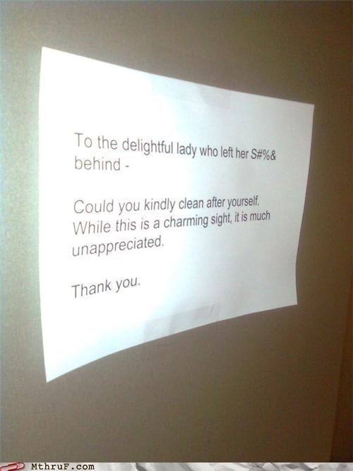 breakroom,cleaning up,delightful,sign