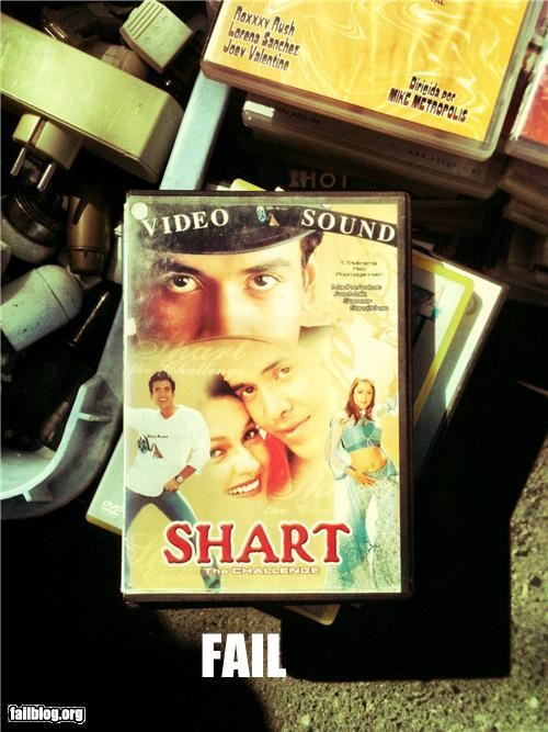 Shart, the challenge Indian movie cover, stumbled upon in market in Lisbon.