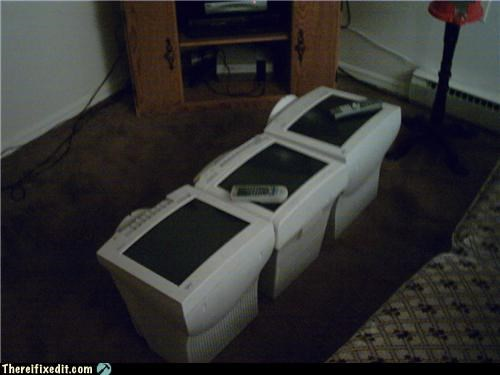 crt dual use monitor table - 5109829888