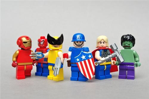 captain america Fan Art iron man lego Spider-Man The Avengers the avengers movie the hulk Thor wolverine - 5109978624