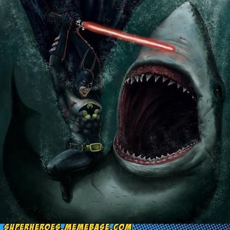 Awesome Art batman lightsaber shark utility belt - 5110236416