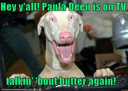 excited greyhound hey-yall paula deen smiling talking - 5110602496
