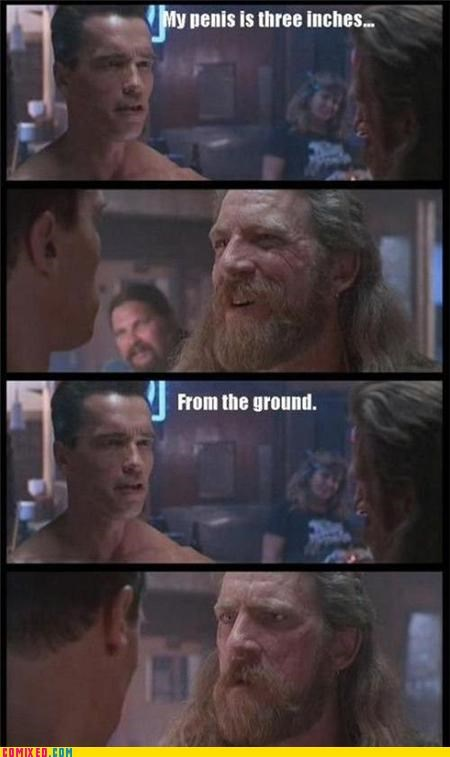 Arnold Schwarzenegger dude junk From the Movies size jokes - 5110820864
