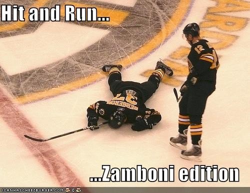 hit and run hockey ouch thats-a-bummer-man Up Next in Sports zamboni - 5111364096