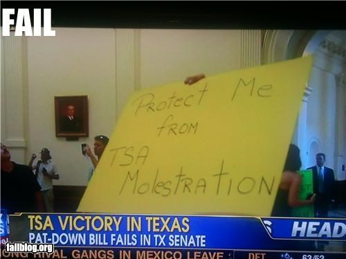 protest fail Gotta hate it when you get molestrated...