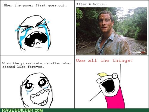 all the guy all the things bear grylls power outage Rage Comics - 5112131840