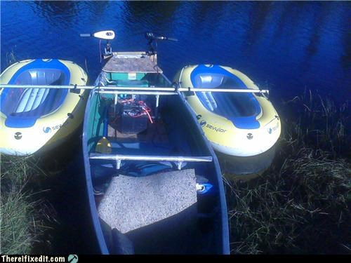 boat dual use float raft