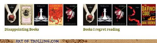 books facebook regret the da vinci code twilight - 5113511936