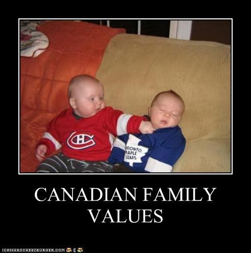 Babies Canada canadian family hockey kids punch values - 5113546240