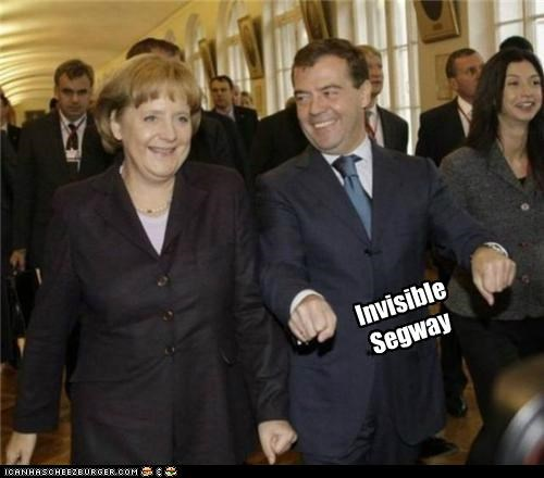 angela merkel,Dmitry Medvedev,political pictures,segway