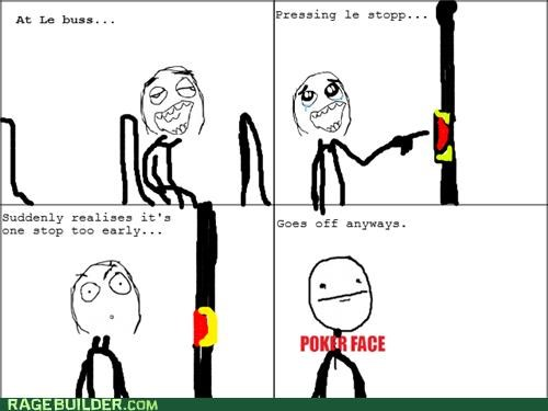 bus mistake poker face Rage Comics - 5113612032