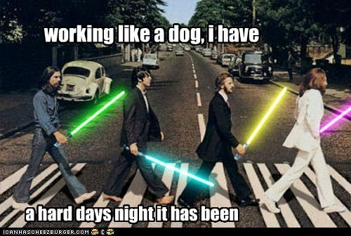abbey road,lightsabers,roflrazzi,star wars,the Beatles,yoda