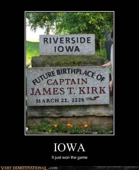 hilarious,Iowa,james t kirk,sign
