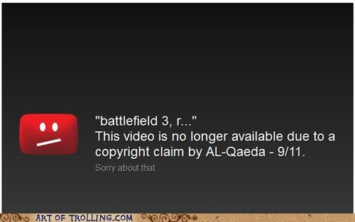 al qaeda,Battlefield 3,copyright,youtube