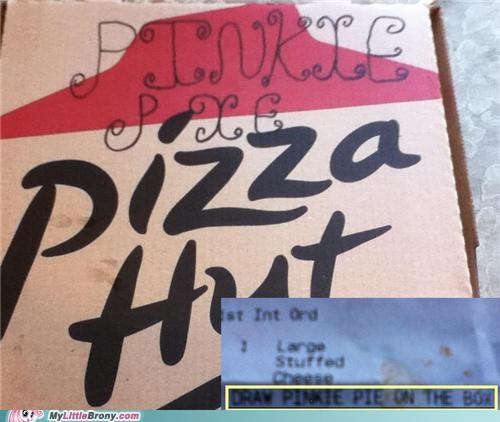 IRL pinkie pie pizza box pizza hut troll - 5114123008