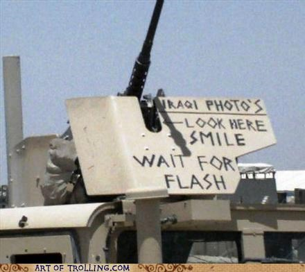 flash,guns,iraqi,IRL,smile