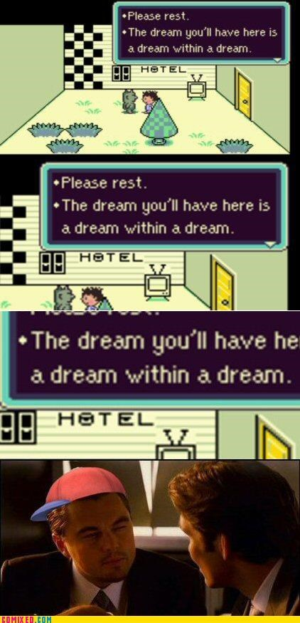 dream,Inception,leonardo dicaprio,ness,video game,video games