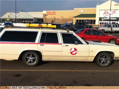 awesome car Ghostbusters IRL