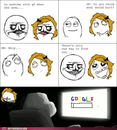 anal,comic,google,rage comic,We Are Dating