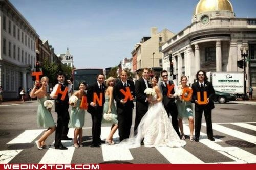 bridal party,funny wedding photos,thank you