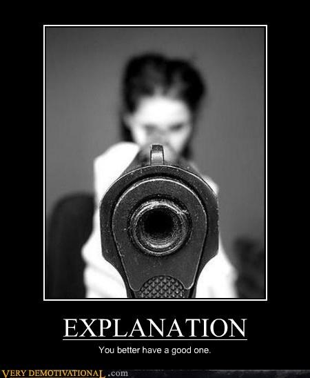communication strategies,explanation,guns,Terrifying,women