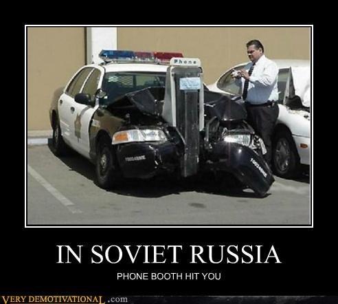 cop car phone booth Soviet Russia wtf yakov smirnoff - 5116582656