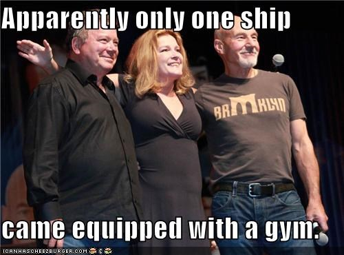 actor celeb funny kate mulgrew patrick stewart sci fi Star Trek William Shatner - 5116739072